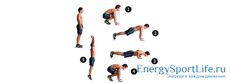 Упражнение Бурпи для похудения